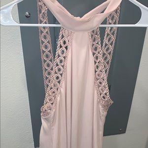 Light pink dress with back cutout